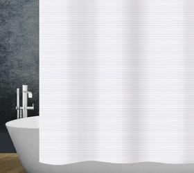 Duschvorhang Linea diaqua 674092000000 Farbe Weiss Grösse 120x200 cm Bild Nr. 1
