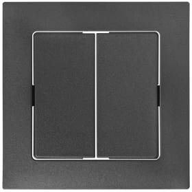 Edizio Due UP interrutore doppio Set di copertura Feller 612196900000 N. figura 1