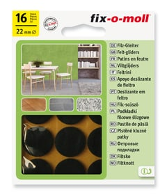 Patins de feutre 3 mm / Ø 22 mm 16 x Patins Fix-O-Moll 607067400000 Photo no. 1