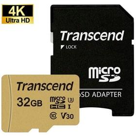microSD Card 500S, MLC 32GB SDHC inkl. Adaptateur Cartes mémoire microSD Transcend 785300147296 Photo no. 1