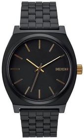 Time Teller Matte Black Gold 37 mm Montre bracelet Nixon 785300136953 Photo no. 1