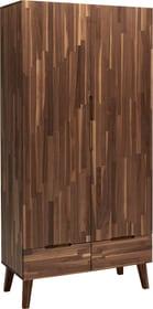 CARA Armoire à portes pivotantes 404489500000 Dimensions L: 100.0 cm x P: 52.0 cm x H: 210.0 cm Couleur Noyer Photo no. 1