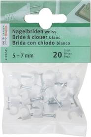 5 - 7 mm Brida con chiodo Do it + Garden 612055100000 Colore Bianco Taglio Ø 5 - 7 mm N. figura 1