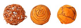 Boules Deco orange, 6cm, 3pcs.