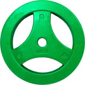 Disque de poids Aerobic Disc 10kg, à l'unité, vert Tunturi 463084000000 Photo no. 1