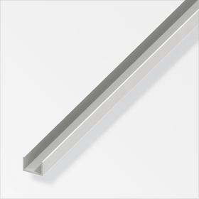 U-Profil  1 x 10 x 12 mm PVC weiss 1 m alfer 605110600000 Art U-Profile Grösse a 10 mm x b 12 mm x c 1 mm x 1 m Bild Nr. 1