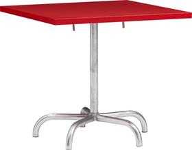 SÄNTIS Tavolo pieghevole Schaffner 408025100030 Colore Rosso Dimensioni L: 80.0 cm x P: 80.0 cm x A: 72.0 cm N. figura 1