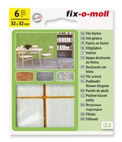 Patins de feutre 3 mm / 32 x 32 mm 6 x Patins de feutre Fix-O-Moll 607068400000 Photo no. 1