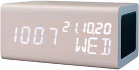 Réveil avec fonction de chargement Qi et haut-parleur BT blanc Réveil avec fonction de chargement & haut-parleur BT Avenwood 785300156626 Photo no. 1