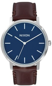 Porter Leather Navy Brown 40 mm Orologio da polso Nixon 785300137047 N. figura 1