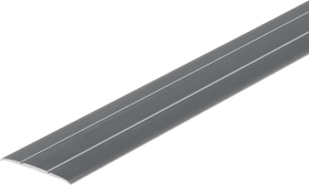 Übergangsprofil 2.5 x 37 mm silberfarben 1 m sk alfer 605114500000 Bild Nr. 1