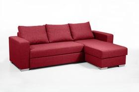 BURKARD Canapé-lit d'angle 402934051030 Dimensions L: 248.0 cm x P: 153.0 cm x H: 90.0 cm Couleur Rouge Photo no. 1