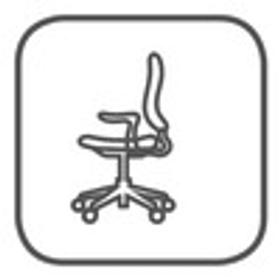Sedia per ufficio con braccioli