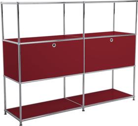 FLEXCUBE Highboard 401814820330 Grösse B: 152.0 cm x T: 40.0 cm x H: 118.0 cm Farbe Rot Bild Nr. 1
