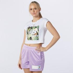 W NB Essentials Botanical Tee Damen-T-Shirt New Balance 464293200410 Grösse M Farbe weiss Bild-Nr. 1