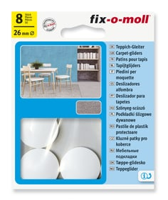 Teppich-Gleiter Ø 26 mm 8 x Fix-O-Moll 607084500000 Bild Nr. 1