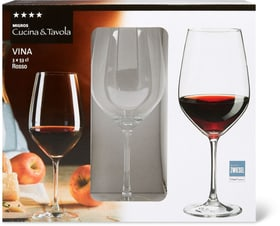 VINA Rosso Cucina & Tavola 701132400003 Dimensioni A: 20.7 cm Colore Transparente N. figura 1