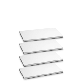 ANGELO Tablar-Set 4Stk. 362018424801 Grösse B: 60.0 cm x T: 36.0 cm x H: 2.2 cm Farbe Weiss Bild Nr. 1