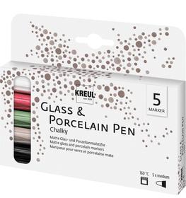 KREUL, glassporcelain pen chalky, set de 5 666788300000 Photo no. 1