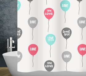 Rideau de douche Love diaqua 674087500000 Couleur Blanc Taille 240 X 180 CM Photo no. 1