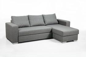 BURKARD Canapé-lit d'angle 402934051001 Dimensions L: 248.0 cm x P: 153.0 cm x H: 90.0 cm Couleur Argenté Photo no. 1
