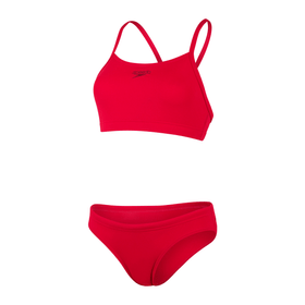 Endurance+ Thinstrap 2PC Bikini Speedo 468113304430 Grösse 44 Farbe rot Bild-Nr. 1