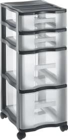 Quadrix Tower Schubladenturm Rotho 603381100000 Grösse L: 400.0 mm x B: 290.0 mm x H: 700.0 mm Farbe Schwarz Bild Nr. 1
