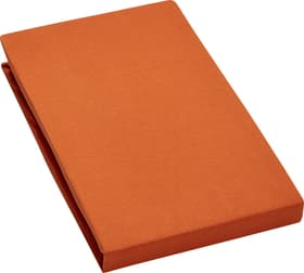 CARLOS Drap-housse en jersey 451033230434 Couleur Orange Dimensions L: 140.0 cm x H: 200.0 cm Photo no. 1