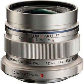 M.Zuiko 12mm F:2.0 argento