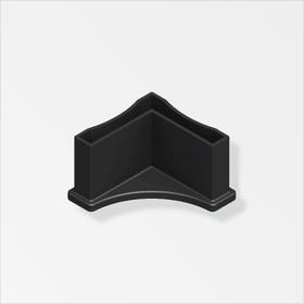 Pied logika 23.5 mm PA noir 2stk. alfer 605138300000 Photo no. 1