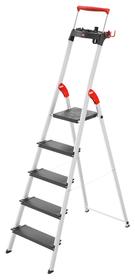 Haushaltsleiter L100 TopLine Hailo 630914500000 Anzahl Stufen / Sprossen 5 Bild Nr. 1