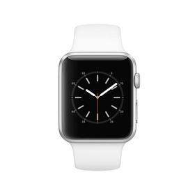 Watch Series 1, 42mm Aluminiumgehäuse, Silber, mit Sportarmband, Weiss