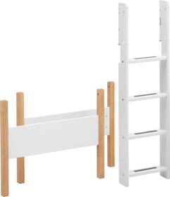 WHITE NOR Composants pour lit hauteur moyenne Flexa 404748300000 Dimensions H: 143.0 cm Couleur Blanc / Chêne Photo no. 1