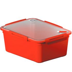 MEMORY Boîte de 5l pour micro-ondes avec couvercle et valve, Plastique (PP) sans BPA, rouge Cuisine Rotho 604061500000 Photo no. 1