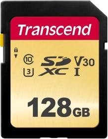 SD Card 500S, MLC 128GB SDXC Cartes mémoire SD Transcend 785300147294 Photo no. 1