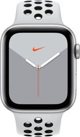 Watch Nike Series 5 LTE 44mm silver Aluminium Pure Platinum Black Nike Sport Band Smartwatch Apple 785300146965 Photo no. 1