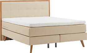 PRONTO Lit Boxspring HASENA 403572800000 Dimensions L: 160.0 cm x P: 200.0 cm Couleur Beige Photo no. 1