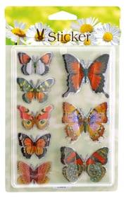 Pasqua Adesivi a forma di farfalla Geroma 657794900000 Colore Arancione Taglio L: 19.5 cm x L: 12.0 cm x A: 1.0 cm N. figura 1