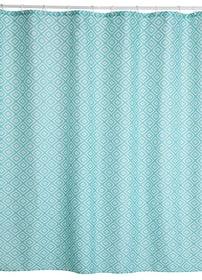 PAULA Rideau de douche 453150353449 Couleur Bleu ciel Dimensions L: 180.0 cm x H: 180.0 cm Photo no. 1