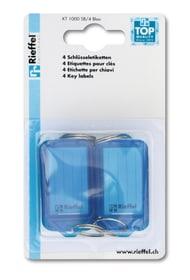 Etiketten blau, 4 Stk. Schlüsselanhänger Rieffel 605606700000 Bild Nr. 1