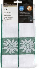 Küchentuch 2er Pack Cucina & Tavola 700347200063 Grösse B: 50.0 cm x H: 70.0 cm Farbe Dunkelgrün Bild Nr. 1