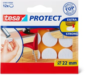 Feutres anti-rayures ronds, blanc, 22mm Rubans adhésifs Tesa 663079300000 Photo no. 1