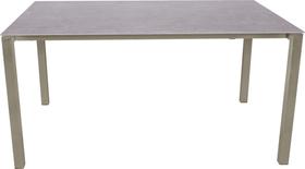 KANO, Gestell Polar Silber, Platte Keramik Gartentisch 753194015080 Grösse L: 150.0 cm x B: 95.0 cm x H: 74.0 cm Farbe Grigio Struttura Bild Nr. 1