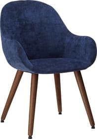 LAYLA Chaise 403709630043 Dimensions L: 56.0 cm x P: 60.0 cm x H: 84.0 cm Couleur Bleu marine Photo no. 1