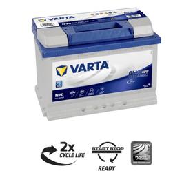 Blue Dynamic EFB N70 70Ah Batteria per auto Varta 620484700000 N. figura 1