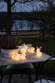 Coniglietti acrilico Set di 5 pezzi Figure luminose Konstsmide 613220800000 N. figura 1