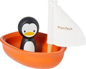 WATER PLAY Bateau à voile pinquin Plan Toys 404730602474 Dimensions L: 9.0 cm x P: 12.0 cm x H: 10.5 cm Couleur Orange Photo no. 1