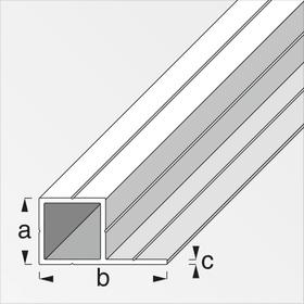Tube carré, 1 côté