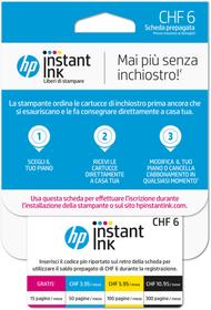 Instant Ink scheda prepagata CHF 6.- (CH - IT) HP 798250400000 N. figura 1