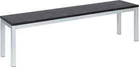 LOCARNO, Gestell Edelstahl, Platte Granit Gartenbank 753192712020 Grösse L: 120.0 cm x B: 35.0 cm x H: 45.0 cm Farbe Schwarz Bild Nr. 1